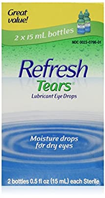 Refresh Refresh Tears Lubricant Eye Drops, 15 ml (Pack of 2)