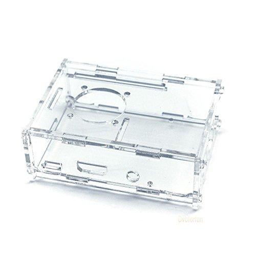 Transparent protective case for Raspberry Pi Model B + (B Plus) / Model 2B / 3B Model (B Plus) - Acrylic - Fan supplied