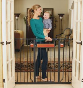 Regalo Home Accents Extra Tall Walk Thru Gate Hardwood