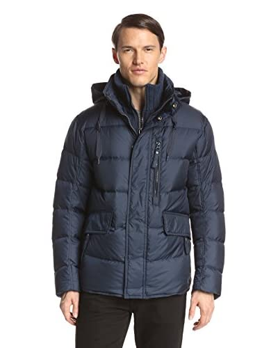 Marc New York Men's Dumbo 27.5″ Ultra Down Puffer with Removable Knit Bib
