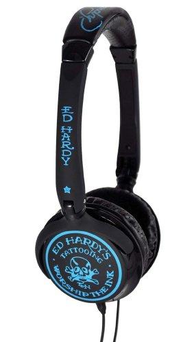 Ed Hardy Over Ear Headphones - Skull and Bones