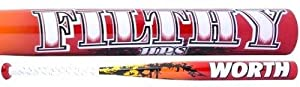 Buy 2014 Worth Filthy HPS ASA ONLY Midload Softball Bat 34 length 27 ounce by Worth