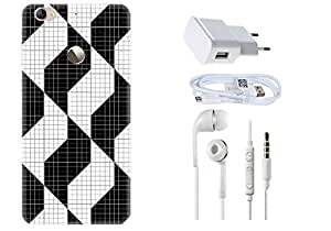 Spygen LeEco LeTv 1s Case Combo of Premium Quality Designer Printed 3D Lightweight Slim Matte Finish Hard Case Back Cover + Charger Adapter + High Speed Data Cable + Premium Quality Handfree
