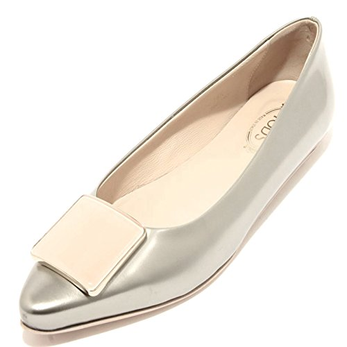 94178 ballerina TOD'S CUOIO SR PLACCA RACING scarpa donna shoes women [39]