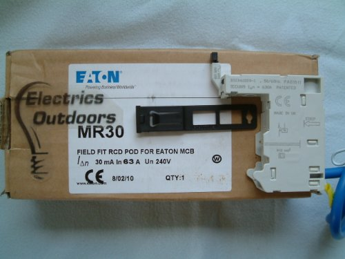 EATON MR 30 FIELD FIT RCD POD FOR EATON MCB 30 mA 63 AMP MAX
