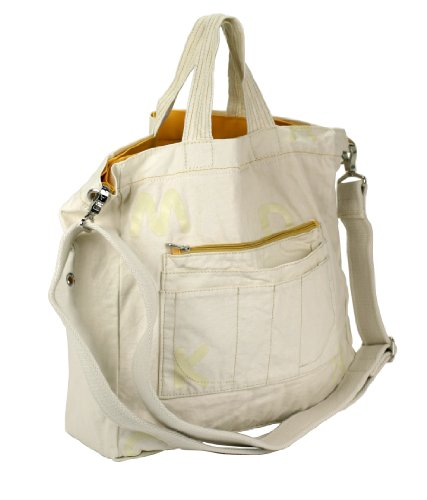 Mandarina Duck Shopping Shopper Cotton Borsa a spalla colore Natural ca. 33 x 33 x 12 cm (B: H: T)