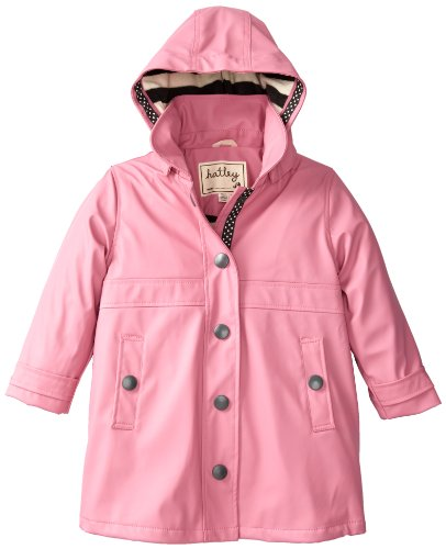 Hatley Little Girls' Splash Jacket, Pink, 6 front-1021199