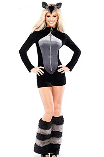 Lover-baby® Romper Headband and Leg Warmers Carnival Furry Raccoon Costume