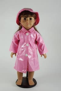 Pink Rain Coat for American Girl Dolls and Most 18 Inch Dolls