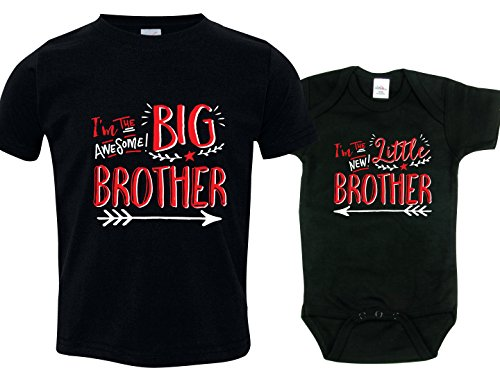 I'm the New Little Brother Tshirts, Hipster Design, Includes Size 2 & 0-3 mo (Im The Little Brother Shirt compare prices)
