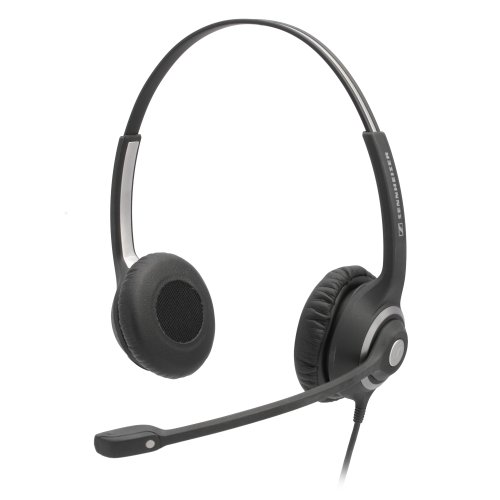 Deskmate Dual-Ear Corded Office Telephone Headset