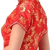 チャイナ服 チャイナドレス 5サイズ有り 半袖ロング 半袖ショート 袖無しロング c01コスプレ コスチューム衣装 メイド AKBアキバ 女子高生 セーラー服 半袖ロング サイズ:32