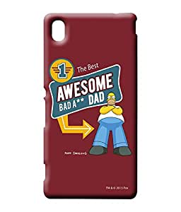 Simpsons - Awesome Dad - Case For Sony Xperia M4