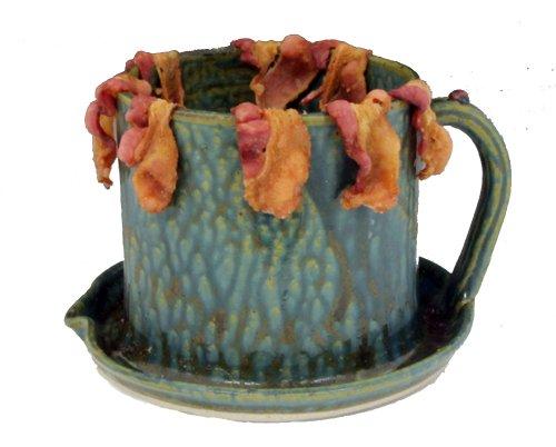 Extreme Microwave Bacon Ceramic Cooker (Green Ash Glaze) -10