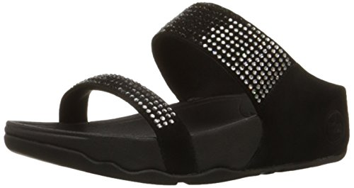 FitFlop Women's Flare Slide Sandal,Black,7 M US (Fitflop compare prices)
