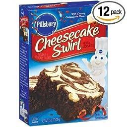 Pillsbury Cheesecake Swirl Brownie Mix, 15.5-Ounce Boxes (Pack of 12)