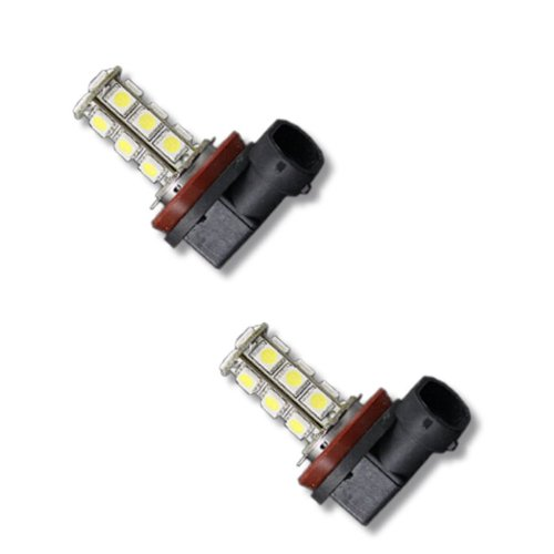 Pair Super White H11 18-Smd 5050 Led Headlight Bulbs For Driving Fog Light