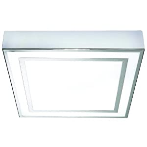 yona bathroom ceiling light square chrome fitting energy efficient