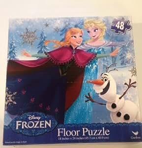 Amazon Com Disney Frozen Floor Puzzle 48 Piece Toys Amp Games