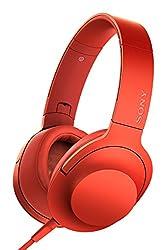 Sony MDR-100AAP On-Ear Hi-Res Audio Headphones (Cinnabar Red)