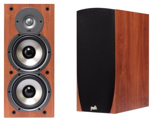 Polk Audio Monitor 45B 2 Way Bookshelf Speakers Pair Cherry Features