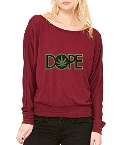 Dope-Pot-Leaf-Long-Sleeve-420-Day-High-Street-Flowy-Shirt-X-Small-Maroon-wr-3
