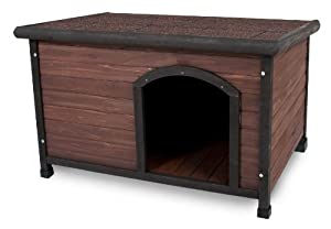 Aspen Pet Ruff Hauz Off Set Door Dog House, 50 to 90-Pound