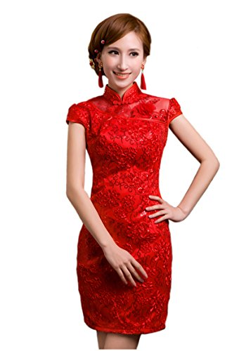 Nuoqi Spring Chinese Style Sexy Ladies Costume Wedding Cheongsam Chi-pao
