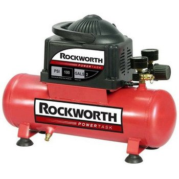 Rockworth RWHD2NK 2-Gallon Factory Reconditioned Hot Dog Portable Electric Air Compressor