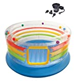 INTEX Inflatable Jump-O-Lene Transparent Kids Bouncer & Quick Fill Air Pump