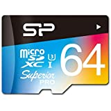 Silicon Power SP064GBSTXDU3V20AM 64GB Superior Pro MicroSDXC UHS-I/U3 Class 10 Memory Card With Adapter, Speed...