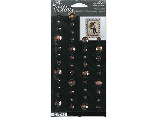 Jolee's Boutique All That Bling Circle Gem Stickers, Rose Gold (Jolees Gems compare prices)