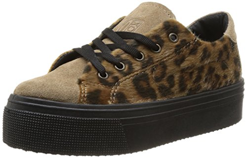 No Box - Scarpe da ginnastica, Donna, Marrone (Marron (Leopard)), 41