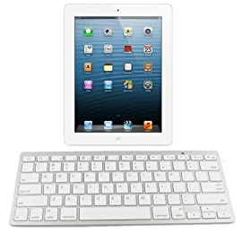 AGPtek® Universal Bluetooth Wireless Keyboard for iPhone 3 4 4S 5, iPad 1 2 3 4 iPad mini, Symbian Android Smartphones and All Tablets, Computers and Laptops