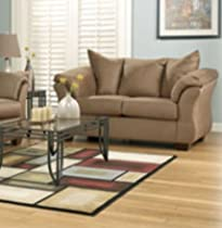 Hot Sale Darcy Mocha Loveseat by Famous Brand