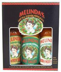 Melindas 3 Pack Hot Sauce Gift Set by Melinda's