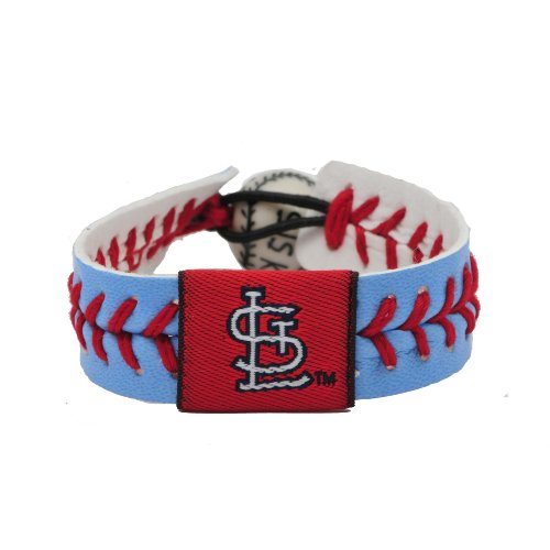 MLB St. Louis Cardinals 1982 Retro Logo Powder Blue Team Color Baseball Bracelet at Amazon.com