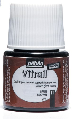 Pebeo vitrail-glasmalfarbe-transparent-marron - 45 ml