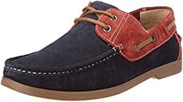 United Colors of Benetton Mens Leather Boat Shoes