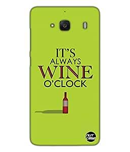 Designer Xiaomi Redmi 2 Case Cover Nutcase-Wine ' O ' Clock (Green)