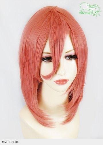 スキップウィッグ 魅せる シャープ 小顔に特化したコスプレアレンジウィッグ フェザーミディ チェリー