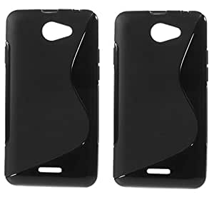 S LINE Anti Skid Gel TPU Slim Soft Case Cover for HTC Desire 516 (Value for Money Set of 2)
