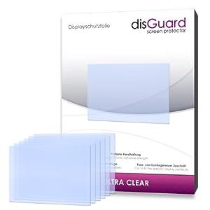 6 x disGuard Ultra Clear Displayschutzfolie für Nikon D5200 / D-5200 - Displayschutz kristallklar