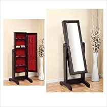 Jewelry Armoire in Red Cocoa