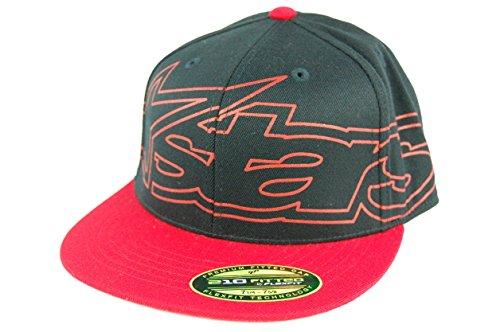 Alpinestars Men's Big 'Ol Blaze 210 Fitted Hat Motocross Baseball Cap L/XL Black