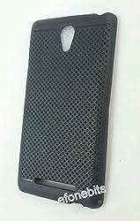 Premium Dotted Black Rubberised Soft Back Case Skin Cover For Micromax Canvas 6 Pro E484