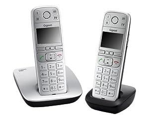 Gigaset  E500 Duo Téléphone sans fil Mains-libres avec Combiné Supplémentaire Métal