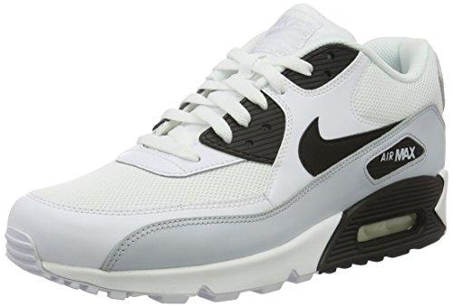 Nike Air Max 90 Essential, Scarpe da Corsa Uomo, Bianco (White/Black-Pure Platinum-White), 44 EU