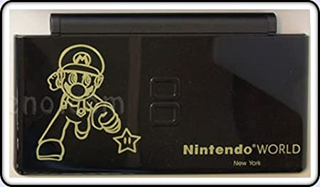 Nintendo World Mario Black - Nintendo DS Lite Complete Full Housing Shell Case Replacement Repair w/ Hinge Set