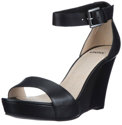 Bronx Women's BX164-856-A Black Wedges Heels 83856-A1 8 UK